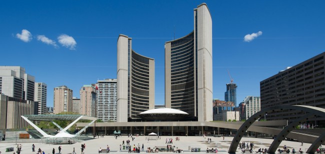 Nathan Phillips Square and Toronto City Hall