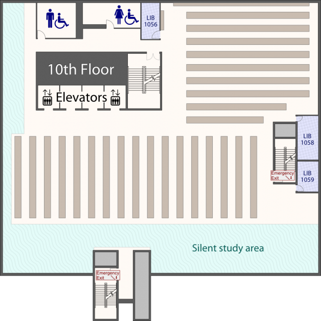 Library 10th Floor Plan