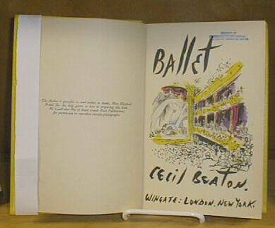 title page Ballet by Cecil Beaton