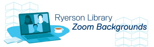 Decorative Graphic Ryerson Library Zoom Backgrounds